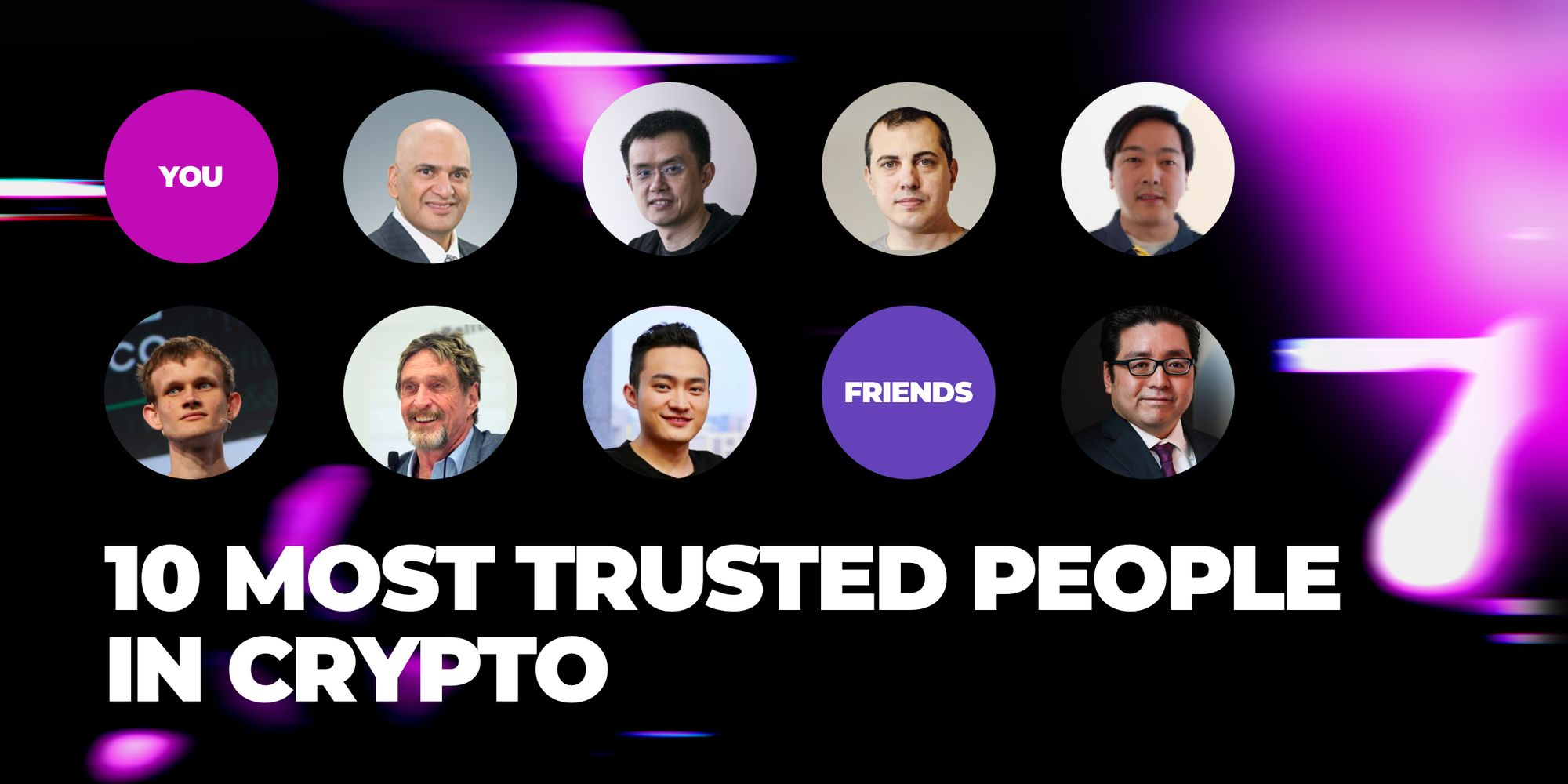 The 10 most trusted people in crypto