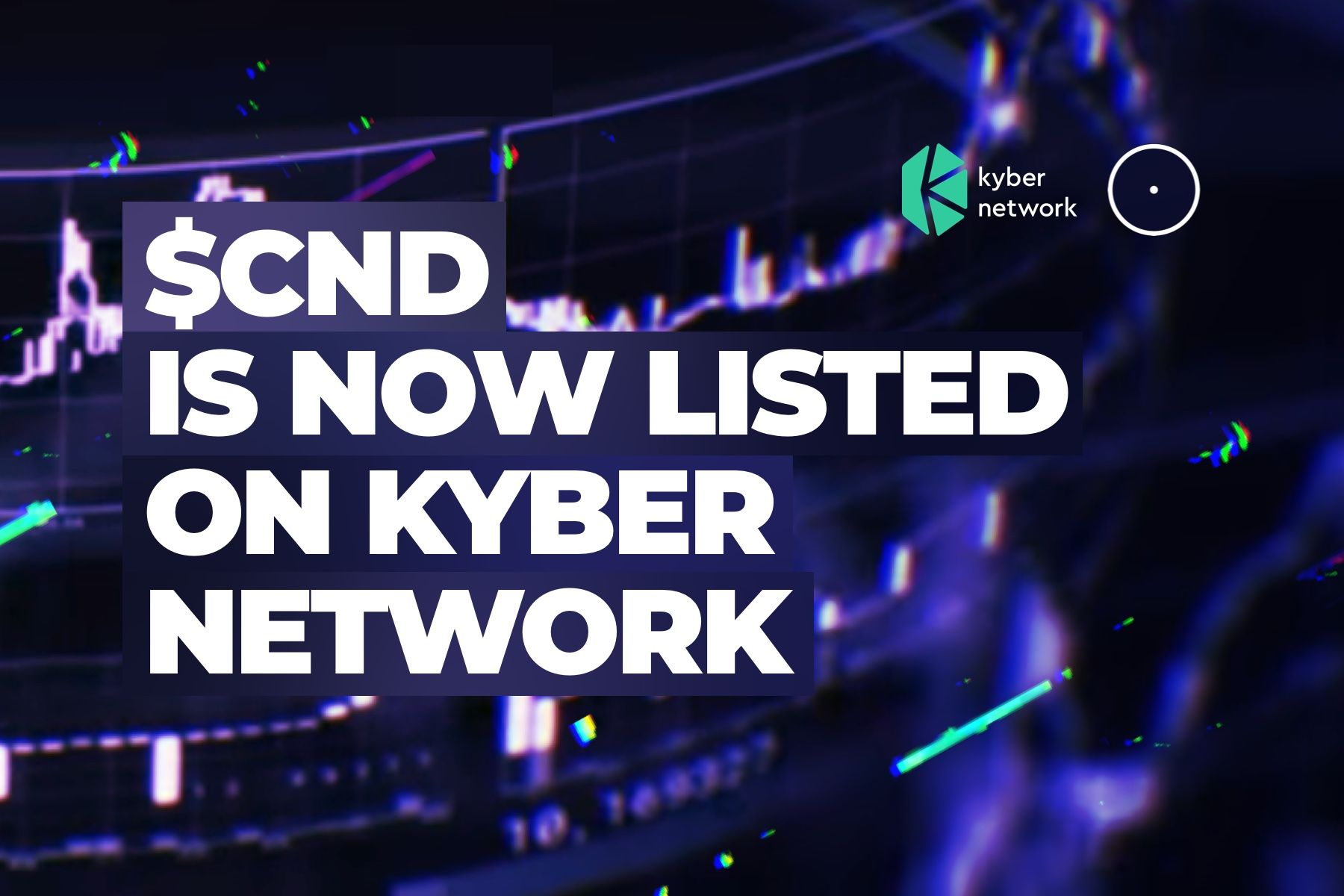 Cindicator's CND token is listed on Kyber