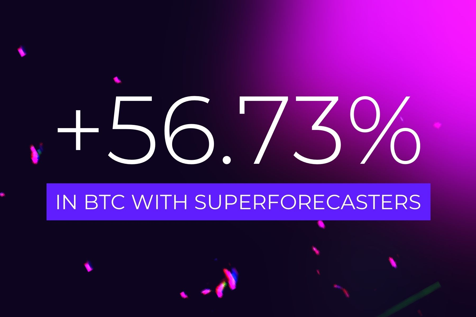 +56.73% in Bitcoin with Cindicator's SuperForecasters signals